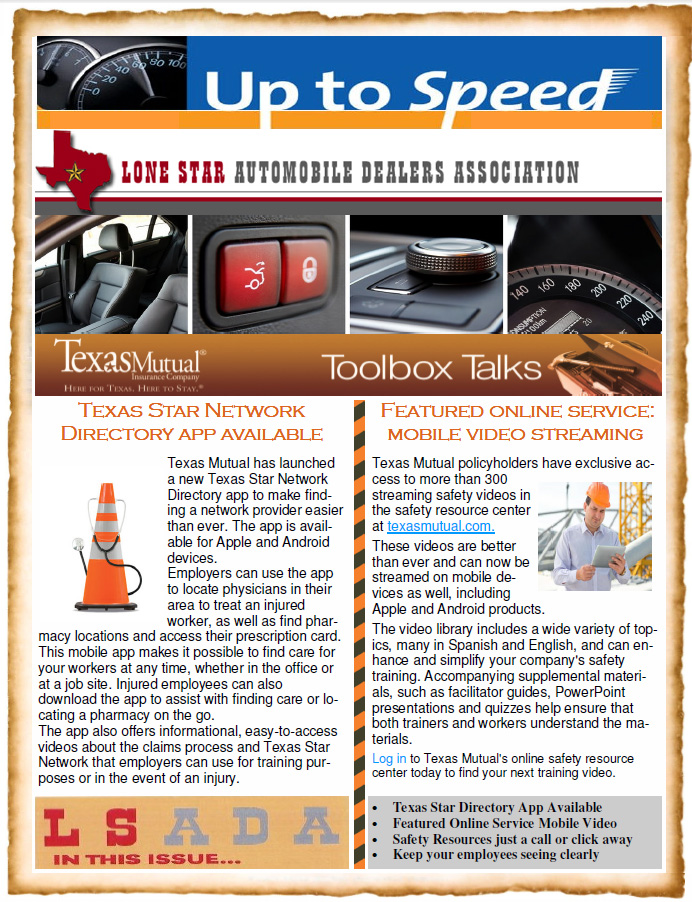 Texas Auto Center >> Lone Star Auto Dealers Newsletters - Auto Dealership Workers Comp Insurance | Texas